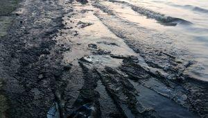 İzmir'de petrol türevi atıklar denizi kirletti, ekipler bölgede çalışma başlattı