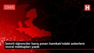 İzmirli öğrenciler barış pınarı harekatı'ndaki askerlere moral mektupları yazdı