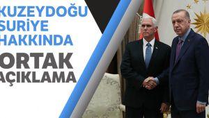 Kuzeydoğu Suriye'ye ilişkin Türkiye-ABD ortak açıklama