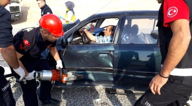 Uşak'ta trafik kazası: 4 yaralı