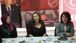 MHP'li kadınlardan kadına dair sunum
