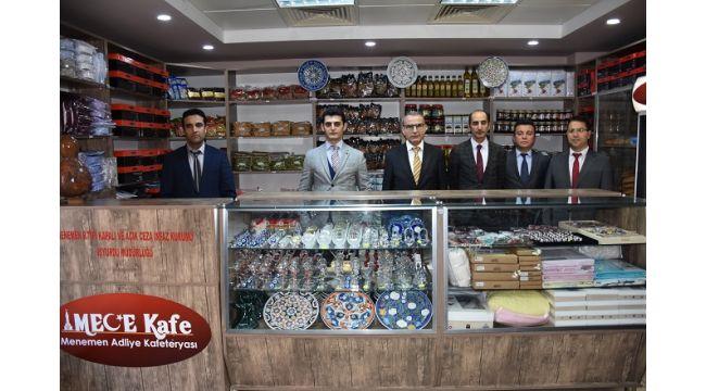 Bu markette mahkumların ürettikleri ürünler satılıyor