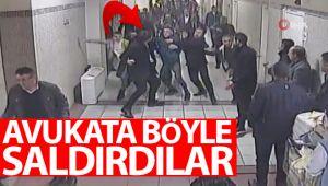 Bakırköy Adliyesi'nde avukata darp güvenlik kamerasında