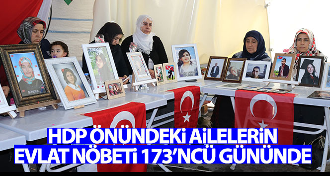 HDP önündeki ailelerin evlat nöbeti 173'ncü gününde