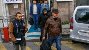 İzmir merkezli FETÖ'nün TSK'deki kripto yapılanmasına yönelik operasyonun zanlıları adliyeye sevk...