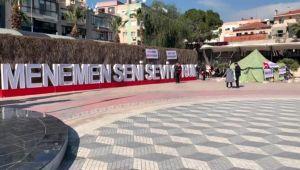 Menemen Belediyesinden çıkarılan işçiler çadır kurarak eyleme başladı