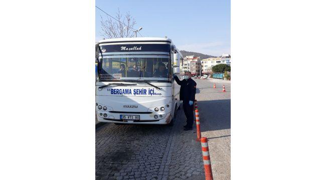 Bergama'da toplu taşımaya Koronavirüs ayarı