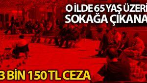 Erzincan'da 65 yaş üzeri keyfi dışarı çıkana 3 bin 150 TL ceza