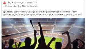 İzmir kulüpleri tek yürek: