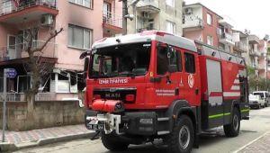 Televizyonun patlaması sonucu çıkan yangın bir evde hasara neden oldu