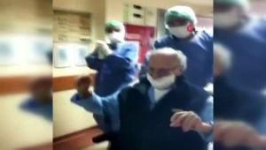 95 yaşında korona virüsü yendi... Oynayarak taburcu oldu