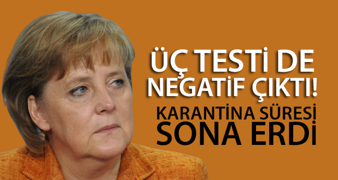 Almanya Başbakanı Merkel'in karantina süresi sona erdi
