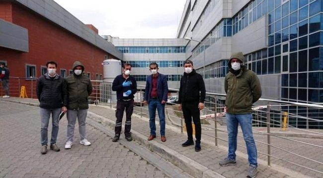 Belediye çalışanı dezenfekte çalışmaları sırasında saldırıya uğradı