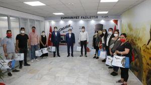 Başkan Batur'dan gençlere teşekkür
