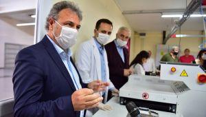 Bornova'da günde 30 bin maske üretilebilecek