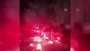İş yerinde çıkan yangın hasara neden oldu