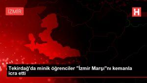 Tekirdağ'da minik öğrenciler 'İzmir Marşı'nı kemanla icra etti