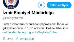 İzmir İl Emniyet Müdürlüğü, sosyal medyada