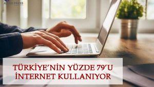 Türkiye'nin Yüzde 79'U İnternet Kullanıyor
