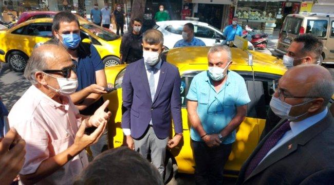 Vali Köşger ile vatandaş arasında maske diyaloğu