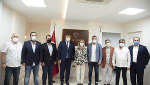 CHP'li Belediye Başkanından AK Parti İlçe Başkanına hayırlı olsun ziyareti