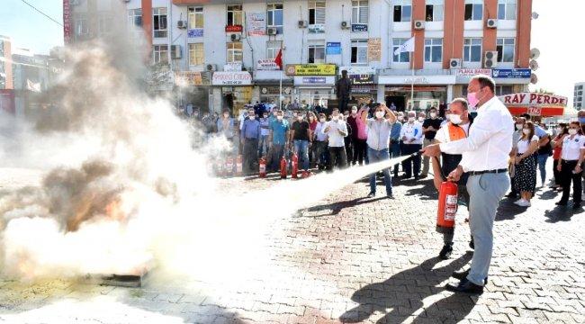 Çiğli Belediyesinde yangın tatbikatı