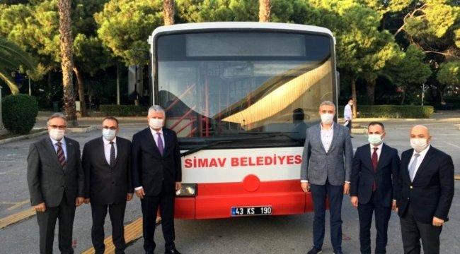 Simav Belediyesi'ne hibe otobüs desteği