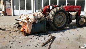 Traktöre arkadan çarptı: 1 yaralı