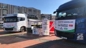 İzmir'den Suriye'ye 2 tır dolusu gıda yardımı gönderildi