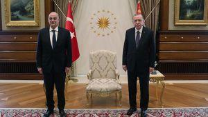 Cumhurbaşkanı Erdoğan, Yunan Bakan Dendias'ı kabul etti