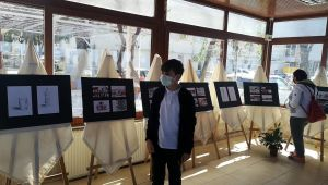 Yeteneğiyle herkesi şaşırtan 14 yaşındaki otizmli Ali Kerem resim sergisi açtı