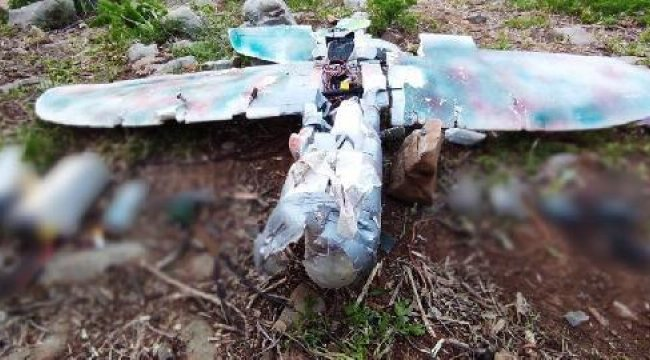 PKK'nın maket uçağı vurularak düşürüldü