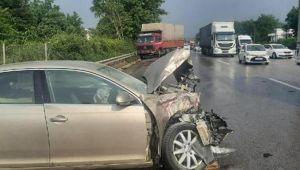Sapanca'da 11 araçlı zincirleme kaza: 5 yaralı